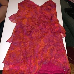 Halter top laundry by shelli segal orange red